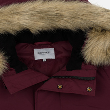 Мужская куртка парка Carhartt WIP Anchorage 4 Oz Merlot/Black фото- 5