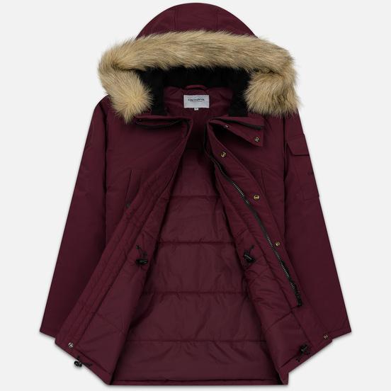 Мужская куртка парка Carhartt WIP Anchorage 4 Oz Merlot/Black