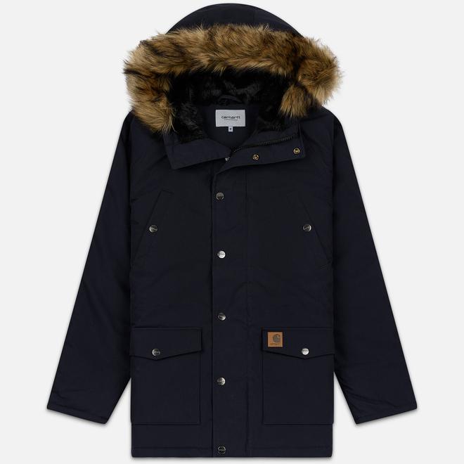 Мужская куртка парка Carhartt WIP Trapper 5.7 Oz Dark Navy/Black