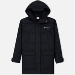 Мужская куртка парка Champion Reverse Weave Padded Longline Hooded Popper Black фото- 0