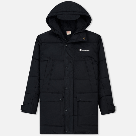 Мужская куртка парка Champion Reverse Weave Padded Longline Hooded Popper Black