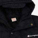 Мужская куртка парка Champion Reverse Weave Padded Longline Hooded Popper Black фото- 2