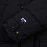 Мужская куртка парка Champion Reverse Weave Padded Longline Hooded Popper Black фото- 6