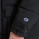 Мужская куртка парка Champion Reverse Weave Padded Longline Hooded Popper Black фото- 9