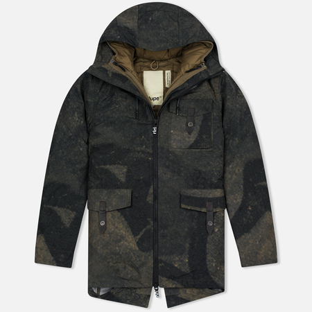 Мужская куртка парка Dupe Storm Hooded 3L Graffiti Brown/Ultras Dupe Print