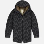 Мужская куртка парка Dupe Storm Hooded 3L Milo Walsh Olive/Dirt Cross Print фото- 0