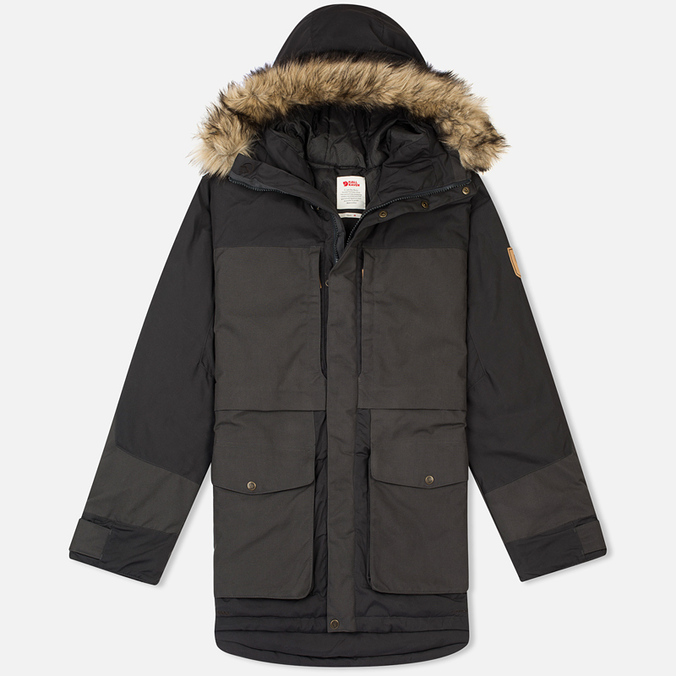 Мужская куртка парка Fjallraven Barents Dark Grey