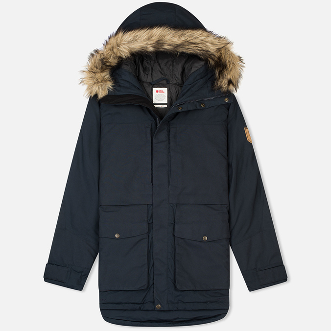 Мужская куртка парка Fjallraven Barents Dark Navy