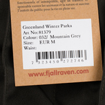 Мужская куртка парка Fjallraven Greenland Winter Mountain Grey фото- 8
