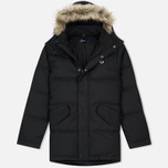 Мужская куртка парка Fred Perry Down Fur Trim Black фото- 0