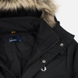 Мужская куртка парка Fred Perry Down Fur Trim Black фото- 1
