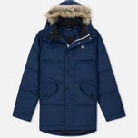 Мужская куртка парка Fred Perry Down Fur Trim Medieval Blue фото- 0
