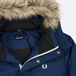 Мужская куртка парка Fred Perry Down Fur Trim Medieval Blue фото- 1