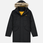 Мужская куртка парка Fred Perry Long Length Winter Black фото- 0
