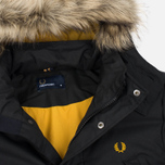 Мужская куртка парка Fred Perry Long Length Winter Black фото- 1