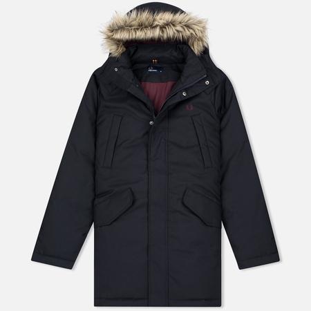 Fred Perry Long Length Winter Men's Parka Navy