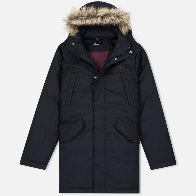 Мужская куртка парка Fred Perry Long Length Winter Navy