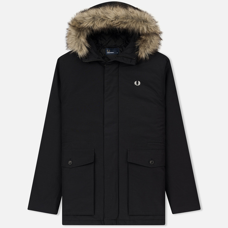 Мужская куртка парка Fred Perry Quilted Fur Trim Black