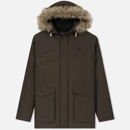 Мужская куртка парка Fred Perry Quilted Fur Trim Wren