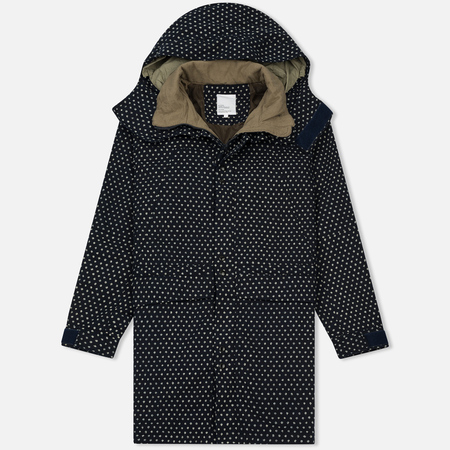 Мужская куртка парка Garbstore Deck Coat Indigo Dot