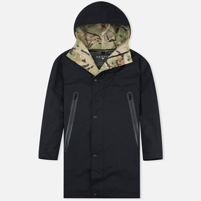 Мужская куртка парка Griffin Fishtail Majocchi Black