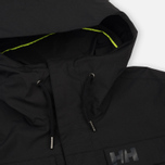 Мужская куртка парка Helly Hansen Captains Rain Black Negro фото- 3