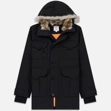 Мужская куртка парка Lacoste Live Faux Fur Hooded Black/Black фото- 0