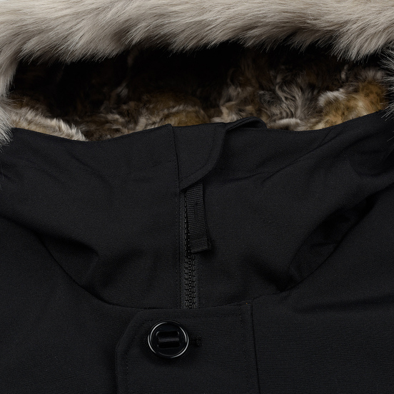 Мужская куртка парка Lacoste Live Faux Fur Hooded Black/Black