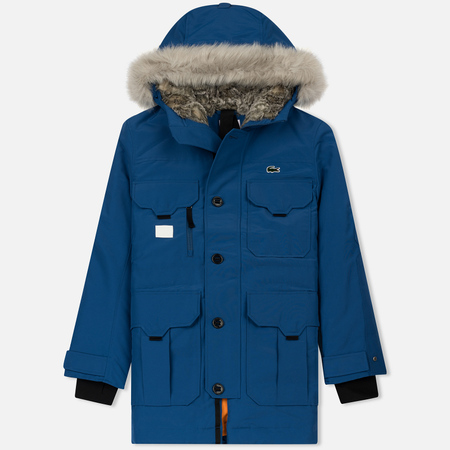 Мужская куртка парка Lacoste Live Hooded Quilted Steel Blue