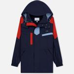 Мужская куртка парка Lacoste Water-Resistant Parka Detachable Hood Navy Blue/Red/Light Blue фото- 0
