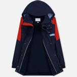 Мужская куртка парка Lacoste Water-Resistant Parka Detachable Hood Navy Blue/Red/Light Blue фото- 1