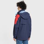 Мужская куртка парка Lacoste Water-Resistant Parka Detachable Hood Navy Blue/Red/Light Blue фото- 3