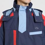 Мужская куртка парка Lacoste Water-Resistant Parka Detachable Hood Navy Blue/Red/Light Blue фото- 4