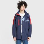 Мужская куртка парка Lacoste Water-Resistant Parka Detachable Hood Navy Blue/Red/Light Blue фото- 2