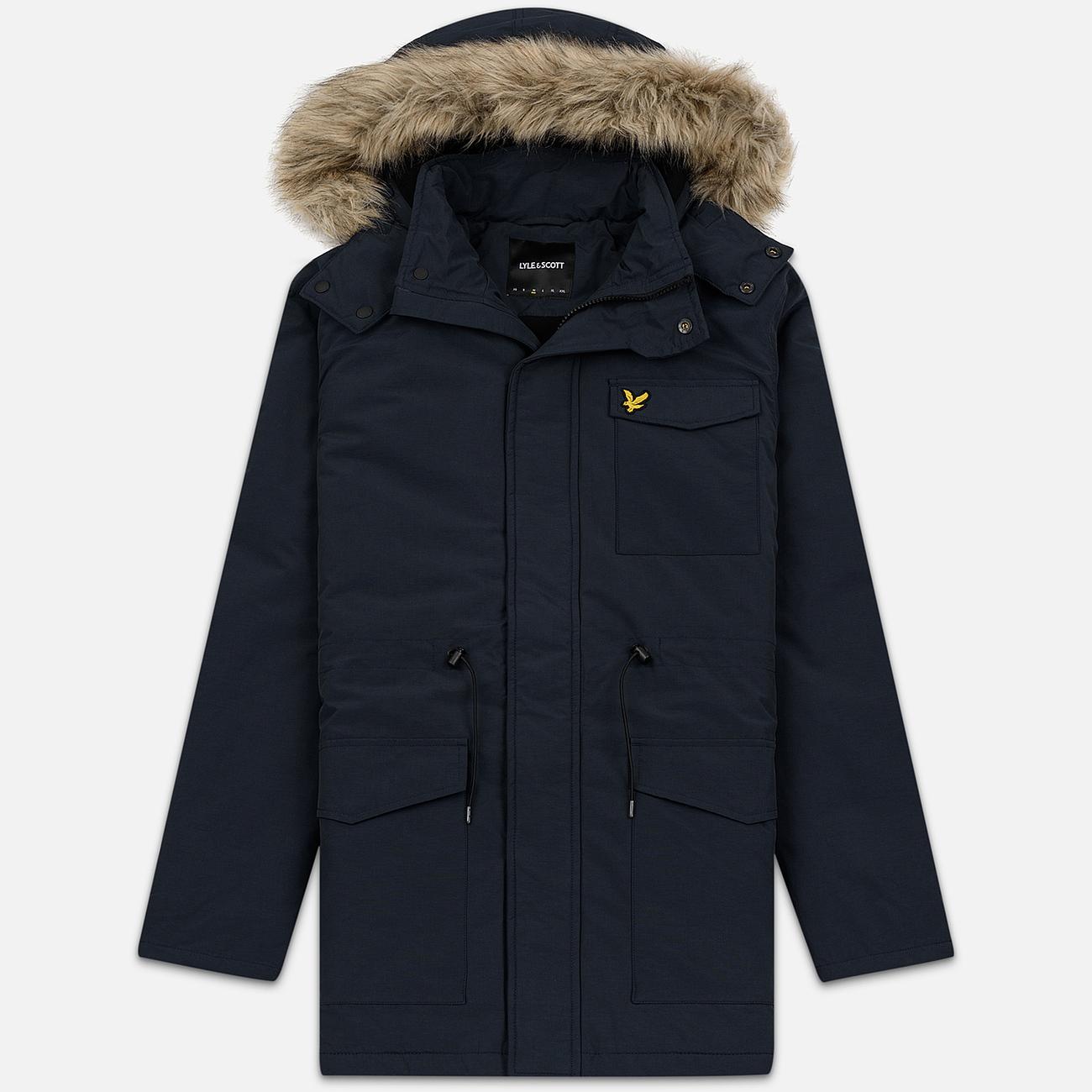 Мужская куртка парка Lyle & Scott Winter Weight Microfleece Dark Navy