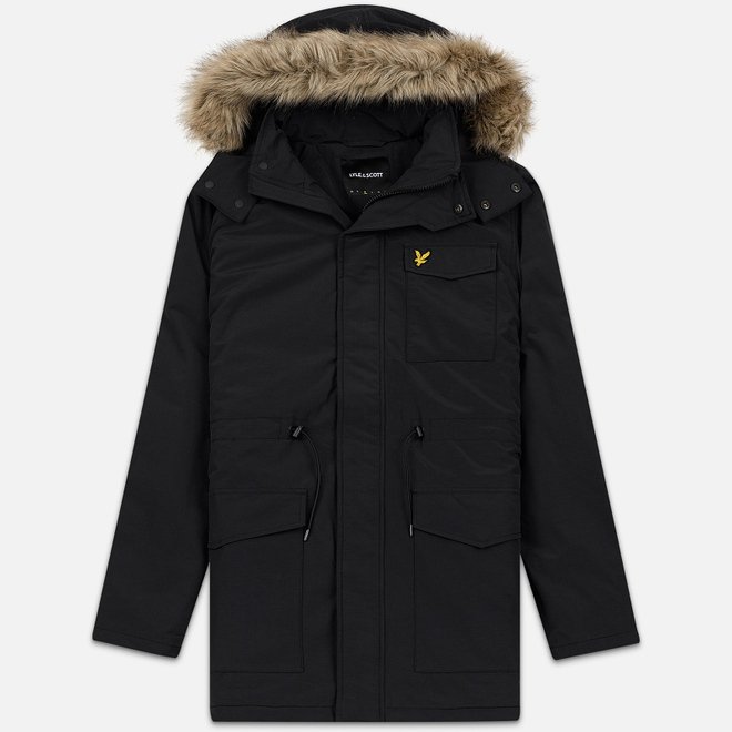 Мужская куртка парка Lyle & Scott Winter Weight Microfleece True Black
