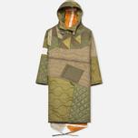 Мужская куртка парка Maharishi Quilted Tri Border Olive фото- 0