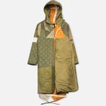 Мужская куртка парка Maharishi Quilted Tri Border Olive фото- 1
