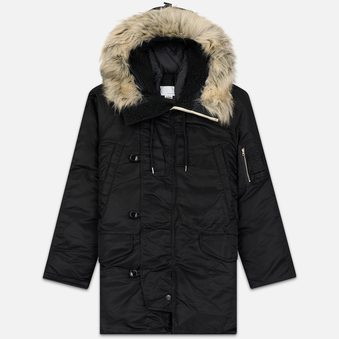 Мужская куртка парка Nanamica Harbor Down Coat Black