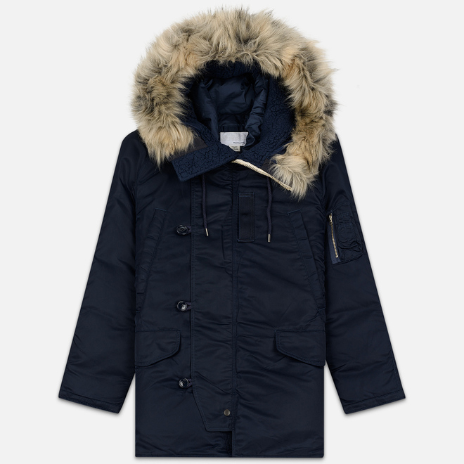 Мужская куртка парка Nanamica Harbor Down Coat Navy