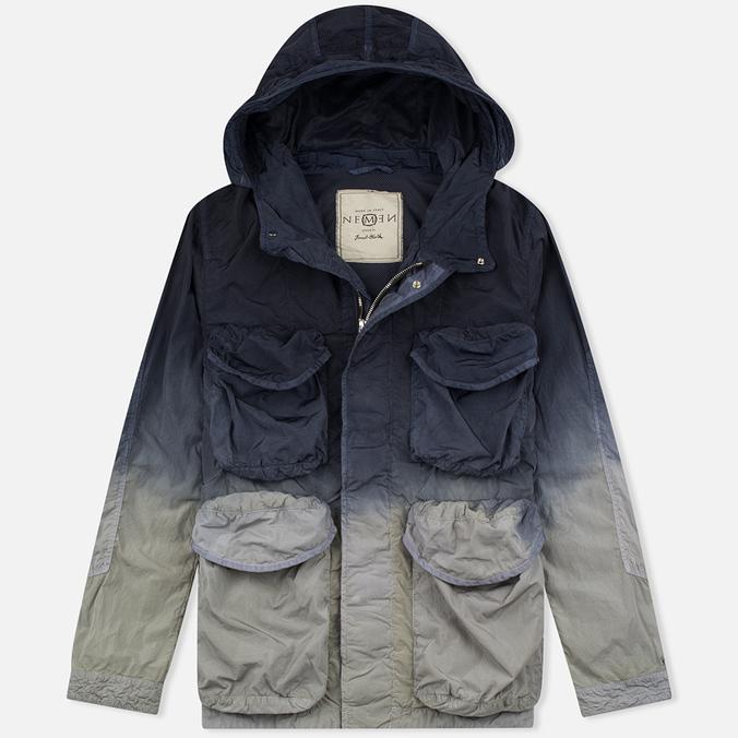 Мужская куртка парка Nemen Multipocket Light Grey/Blue Demin