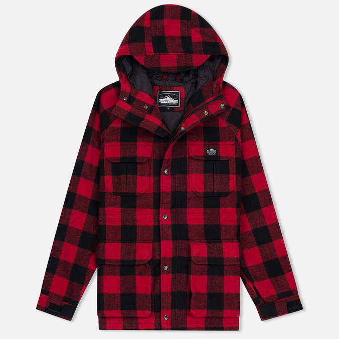 Мужская куртка парка Penfield Kasson Buffalo Plaid Red/Black