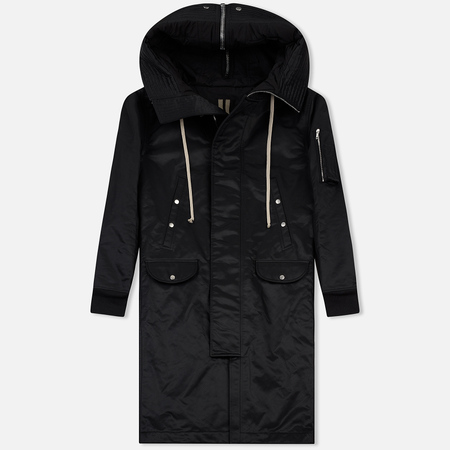 Мужская куртка парка Rick Owens DRKSHDW Woven Padded Hooded Long Black