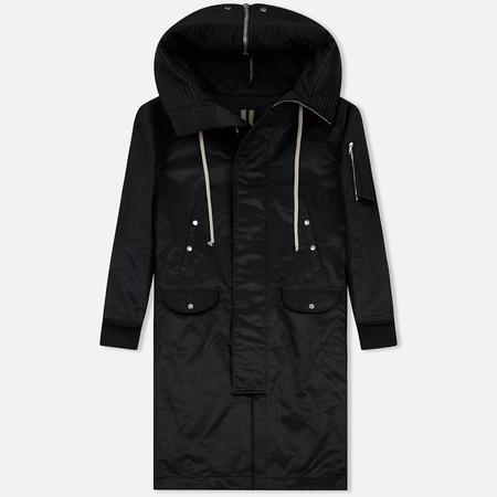 Мужская куртка парка Rick Owens DRKSHDW Woven Padded Hooded Long Black