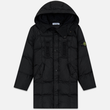 Мужская куртка парка Stone Island Crinkle Reps Nylon Down Black фото- 0