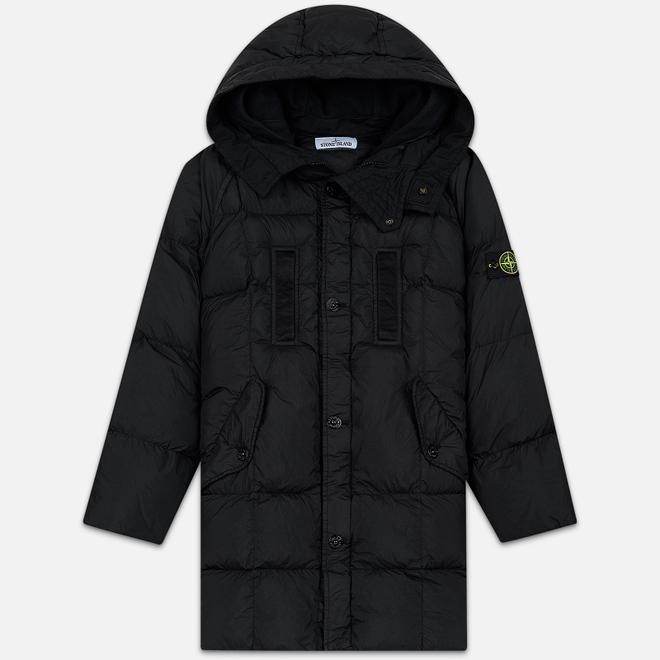 Мужская куртка парка Stone Island Crinkle Reps Nylon Down Black