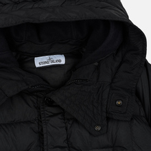 Мужская куртка парка Stone Island Crinkle Reps Nylon Down Black фото- 3