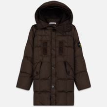 Мужская куртка парка Stone Island Crinkle Reps Nylon Down Dark Brown фото- 0