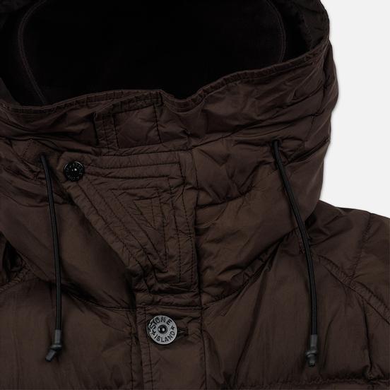 Мужская куртка парка Stone Island Crinkle Reps Nylon Down Dark Brown