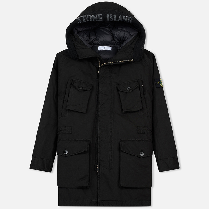 Мужская куртка парка Stone Island David-TC Down Black